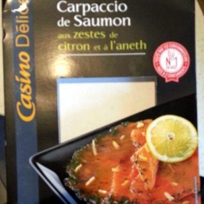 Carpaccio de saumon aux zestes de citron et à l'aneth (Casino délices)