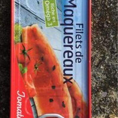 Filets de maquereaux à la sauce tomate et au basilic (Casino)