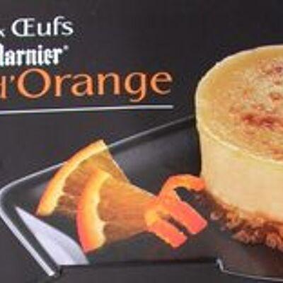 Crème aux œufs saveur vanille sur lit à l'orange - cuite et dorée au four (Casino délices)