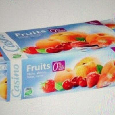 Fruits 0% de mat. gr. 0% de sucres ajoutés** (Casino)