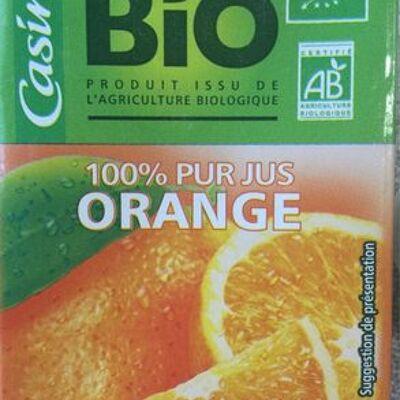 100% pur jus d'orange bio (Casino)