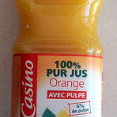 100% pur jus orange avec pulpe (Casino)
