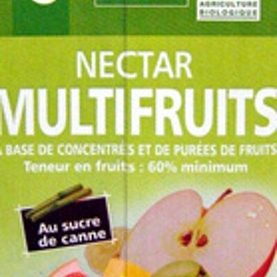 Nectar multifruits à base de concentrés et de purées de fruits (Casino)