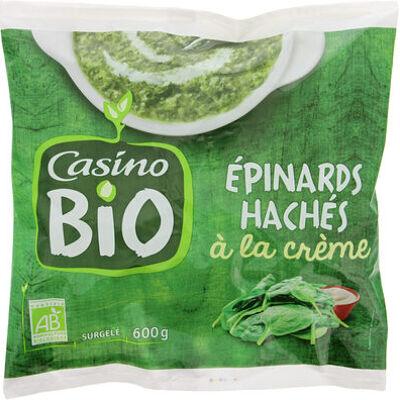 Epinards hachés à la crème bio (Casino bio)
