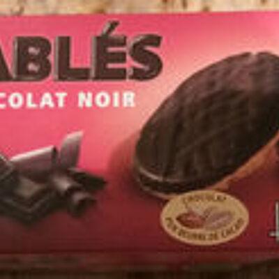 Sablés chocolat noir (Casino bio)