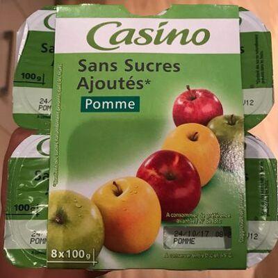 Sans sucres ajoutés pommes (Casino)