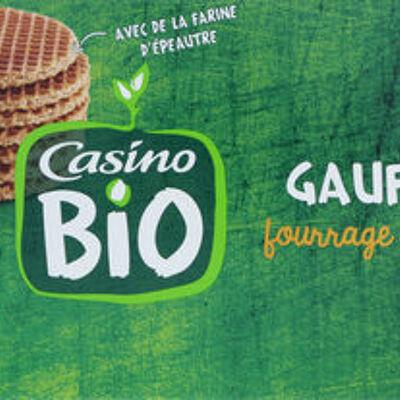 Gaufres fourrage au miel bio (Casino bio)