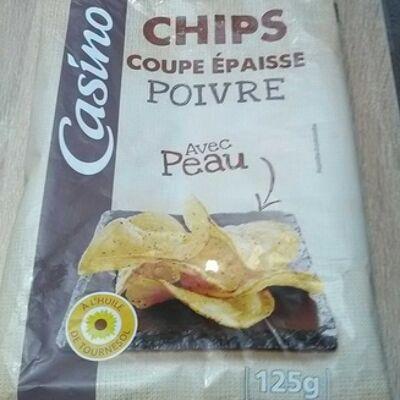 Chips coupe épaisse poivre avec peau (Casino)