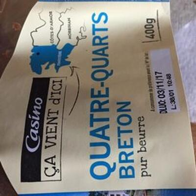 Quatre-quarts breton pur beurre (Casino ca vient d'ici)