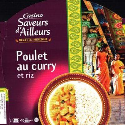Saveurs d'ailleurs recette indienne poulet au curry et riz (Casino)