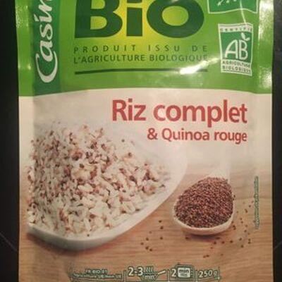 Riz complet et quinoa rouge bio en doypack (Casino bio)