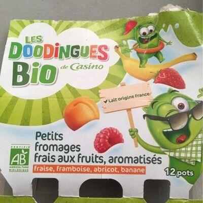 Petits fromages frais aux fruits, aromatisés bio (Casino)