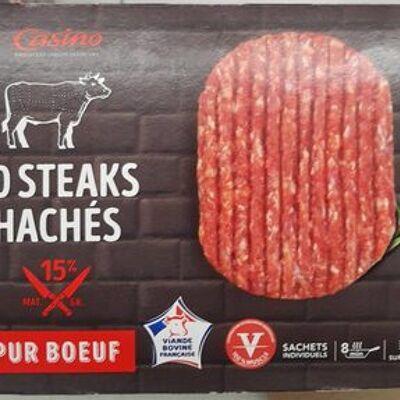 10 steaks hachés pur boeuf 15% (Casino)