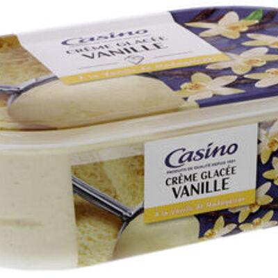 Crème glacée vanille - a la vanille de madagascar (Casino)