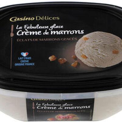 La fabuleuse glace crème de marrons eclats de marrons glacés (Casino)