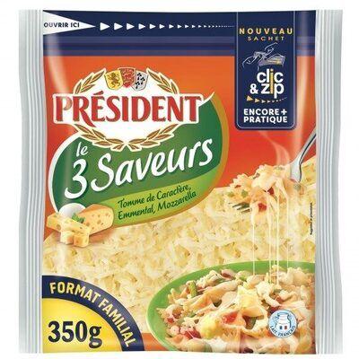 Fromage râpée le 3 saveurs (Président)