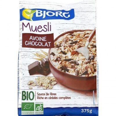 Muesli avoine chocolat (Bjorg)
