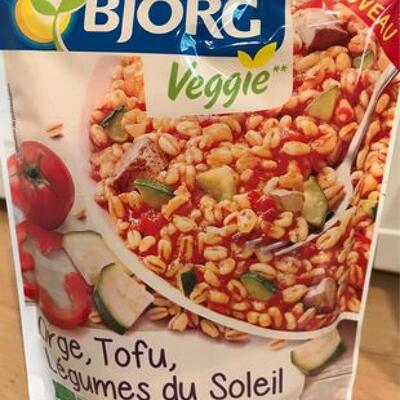 Orge, tofu, légumes du soleil (Bjorg)