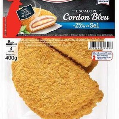 Escalope cordon bleu -25% sel, 400g (Maître coq)