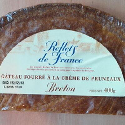 Gâteau breton fourré à la crème de pruneaux (Reflets de france)