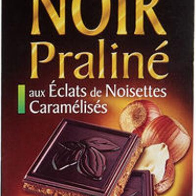 Les carrés fondants chocolat noir fourrage au praliné (Grand jury)