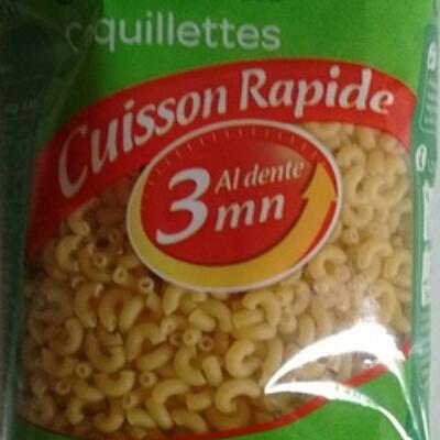 Coquillettes cuisson rapide 3 minutes (Carrefour)