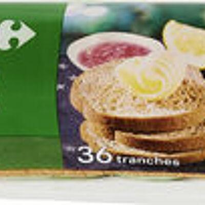 Toasts seigle (Carrefour)