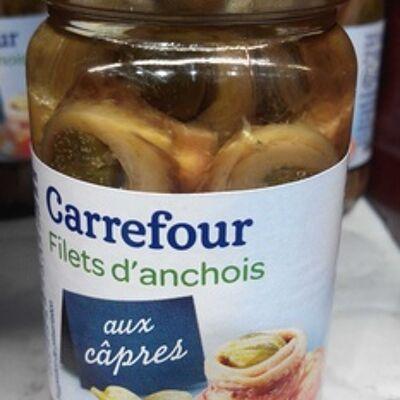 Filets d'anchois aux câpres (Carrefour)