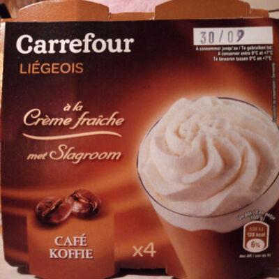 Liégeois à la crème fraîche (Carrefour)