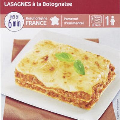 Plat minut' lasagnes à la bolognaise (Carrefour)