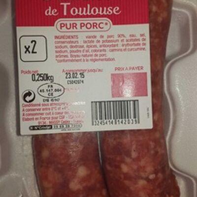 Saucisse de toulouse pur porc (Carrefour)