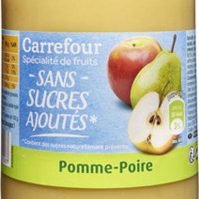 Spécialité de fruits pomme-poire (sans sucres ajoutés) (Carrefour)
