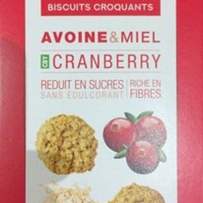 Biscuits avoine & miel cranberry (To good)