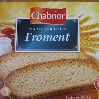 Pain grillé froment (24 tranches) (Chabrior)