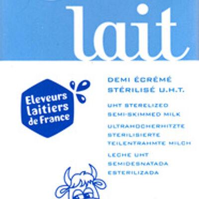 Lait demi-écrémé stérilisé uht (Helior)