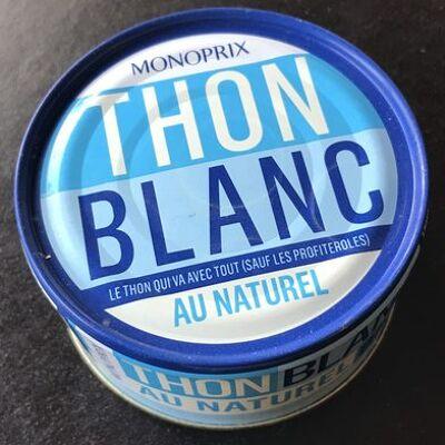 Thon blanc au naturel (Monoprix)