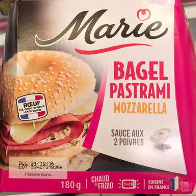 Bagel pastrami mozzarella sauce aux 2 poivres (Marie)