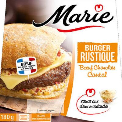 Burger rustique, boeuf charolais cantal, sauce aux deux moutardes (Marie)