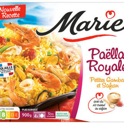 Paella royale, petites gambas et safran (Marie)