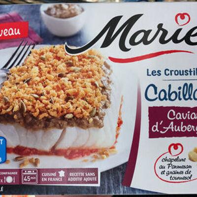 Les croustillants cabillaud caviar d'aubergines (Marie)