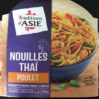 Nouilles thaï au poulet avec sauce soja caramélisée (Traditions d'asie)