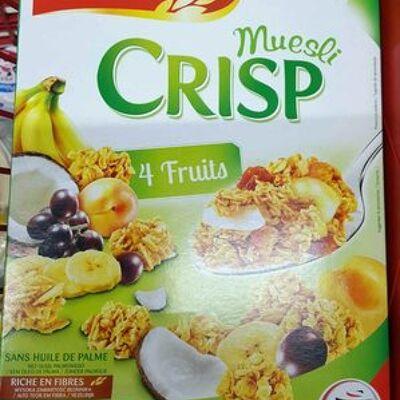 Muesli crisp 4 fruits (Chabrior)