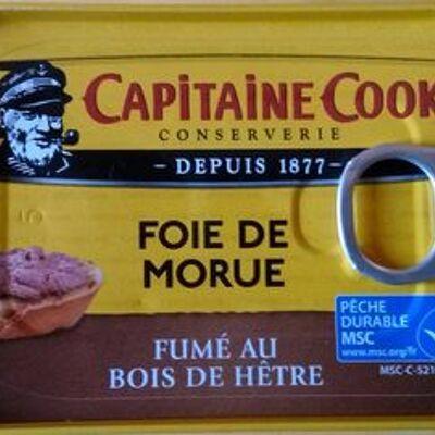 Foie de morue fumé au bois de hêtre (Capitaine cook)