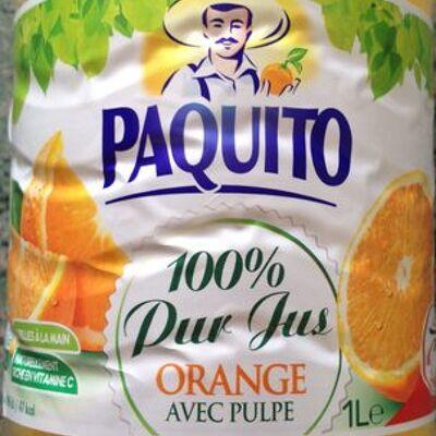 100% pur jus orange avec pulpe (Paquito (intermarché))