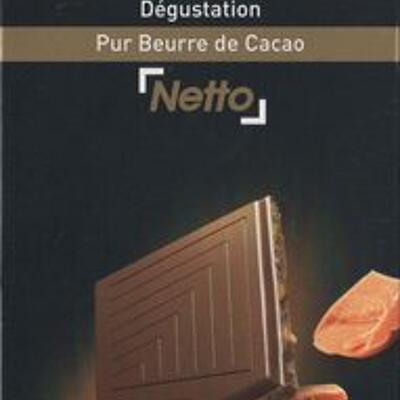 Chocolat lait dégustation aux éclats de caramel (Netto)