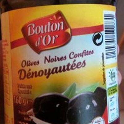 Olives noires confites dénoyautées (Bouton d'or)