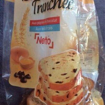 Brioche tranchée aux pépites de chocolat (Netto)