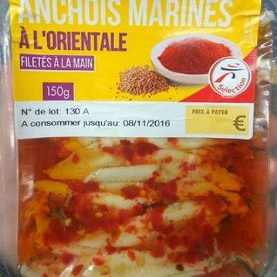 Anchois marinés à l'orientale filetés à la main (Intermarché)