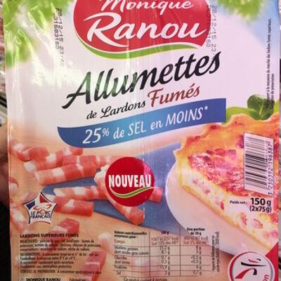 Allumettes de lardons fumés (25% de sel en moins) (Monique ranou)