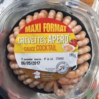 Crevettes apéro sauce cocktail (maxi format) (Netto)
